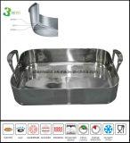 Le rôti de pan des ustensiles de cuisson carré en acier inoxydable 3 ply Pan Ustensiles de cuisine Ustensiles de cuisine