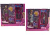 """Boneca de Fashiontoy 11.5 a """" com jogo do Wardrobe ajustou 2 Assted (H8726053)"""
