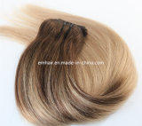 2つの調子の実質の毛のBalayage 4#/18#のバージンの毛のインドの人間の毛髪の束