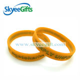 Braccialetto impresso promozionale del silicone con il marchio personalizzato