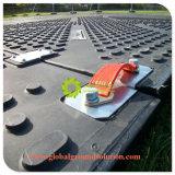 Stuoia provvisoria nera resistente riciclata della carreggiata di prezzi di fabbrica di colore di Upe