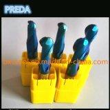 Cortadores profissionais revestidos azuis do nariz da esfera do CNC