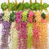 結婚式の居間のためのハングの人工絹の藤の花