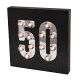 Indicatore luminoso di legno di età nera LED per la decorazione domestica