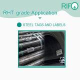 Papel de etiqueta de alta temperatura, autoadhesivo Stickers de acero, Poliamida Labl rollo adhesivo