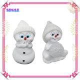 Bonhomme de neige Polyresin promotionnelle des cadeaux de Noël