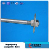 Escora Rod do HDG com linha ferragem de Pólo da placa