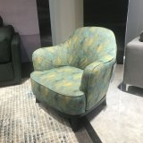 Ocio verde silla con tapizado de tela para muebles de salón