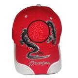 Heiße Panel-Baseballmütze des Verkaufs-6 mit Stickerei (076P017)