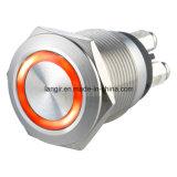 Anillo de acero inoxidable de 19mm LED Interruptor Pulsador