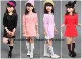 箱のフリンジが付いている長い袖の女の子の服の子供の衣服