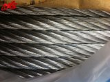 Corda galvanizzata alta qualità 6X37+FC/Iws/Iwrc del filo di acciaio