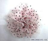 Мода Rhinestone шифон кружево многоцветные цветы декоративные аксессуары для одежды