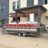 Pontoon Boat de aluminio de 7,5 m de la familia de placer y el Deporte Ce aprobar