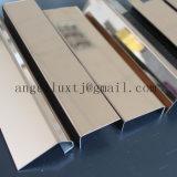 輝いた銀製のステンレス鋼の端保護壁の装飾のプロフィールのトリム