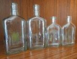 bouteille en verre du whiskey 175ml/350ml plat