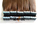 Estensioni di trama del nastro della METÀ DI del Brown della cuticola dei capelli pelle russa dell'unità di elaborazione