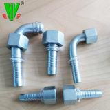 Connettore idraulico del tubo flessibile di fabbricazione di CNC della Cina dei montaggi di estremità del tubo flessibile di sorgente delle parti