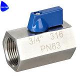robinet à tournant sphérique de l'acier inoxydable 316 sanitaires de 1/2in petit réduisant le port