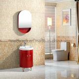 Cabinet de salle de bains rouge de PVC de rond