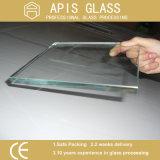 China plano float incolor de alta qualidade de vidro de segurança temperado com 3mm a 12mm por grosso