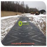 Le stuoie resistenti della strada della stuoia provvisoria materiale della carreggiata del PE hanno frantumato le stuoie di accesso di protezione