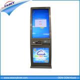 Quiosque ereto livre da impressão do bilhete do pagamento do auto da tela de toque