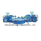 2 couleurs de type rotatif Full-Auto Type Water-Cooling TPR/machine de moulage par injection unique de PVC