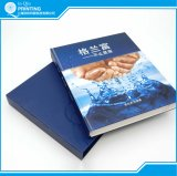 Quadratischer Dorn-Kasten-verklemmtes Farben-Buch-Drucken mit Slipcase