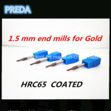торцевые фрезы 1.5mm для маршрутизатора CNC высокого качества золота