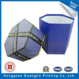 Polygonal su ordine Shape Paper Gift Box con Ribbon e Golden Edge