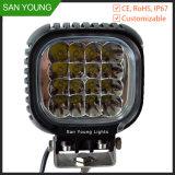 Indicatore luminoso 48W del lavoro del CREE LED 4 pollici per l'indicatore luminoso del lavoro di uso di funzionamento del carrello elevatore del camion