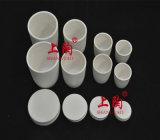 Pot de creuset en céramique Al2O3 cylindrique de laboratoire pour support d'échantillon