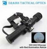 Svd 4X24の赤い照らされたレチクルのライフルのスコープの最新の米国軍用規格Riflescope
