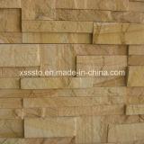 La nature de la culture de grès jaune panneaux de revêtement de pierre