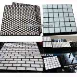 La Chine usine de céramique d'alumine Wear-Resistant garniture en caoutchouc