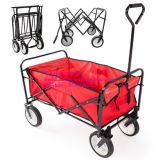 赤い屋外に買物をすることのための頑丈な折りたたみ折る庭カート実用的なワゴン