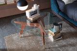 Triangle personnalisé Table à café haut verre trempé R avec un rayon de coin