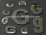 значок Car Chrome Emblem Chrome Letter Car значка Car Logo Gold Letter значков 3m выполненный на заказ