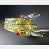 Gelbes Glaswasser-Rohr des Drachen GlasHuka formend
