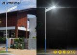 Réverbère actionné solaire de DEL avec le contrôleur du détecteur MPPT de PIR