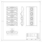 De RubberSporen 320*100*45 van KOMATSU PC20/PC30