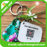 Продукт ключевого кольца изготовленный на заказ подарков промотирования резиновый (SLF-KC008)