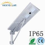 60W太陽電池パネル、情報処理機能をもった動きのコントローラ及び電池が付いている太陽LEDの街灯