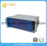 144ポートFCのアダプターが付いているラックによって取付けられるODF/のファイバーパッチ・パネル