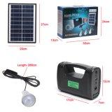 3PCS太陽ランプが付いている移動式充電器3W 4W 5Wの太陽エネルギーシステムが付いている2018太陽電池パネルの発電機