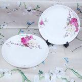 Piatto di ceramica bianco del commercio all'ingrosso del padellame di Cina Rosa dell'osso