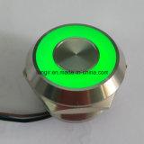 25mm de acero inoxidable 316L el bisel de bloqueo de la cabeza bi- de la luz de color de 25mm Interruptor capacitivo Piezo