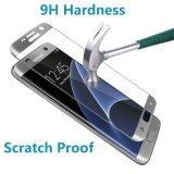 Samsung 은하 S7 가장자리를 위한 3D에 의하여 구부려지는 9h 전면 커버 강화 유리 스크린 프로텍터 0.33mm 까만 색깔 반대로 지문 방어적인 전화 필름