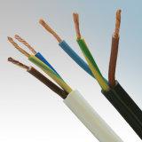 Cabo flexível Sheathed PVC do PVC Indualted de 3 núcleos para o fio elétrico de LSZH